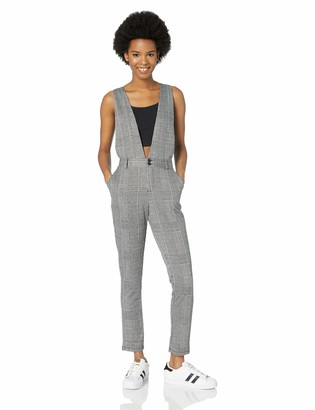 Jack by BB Dakota Women's Checkmate Jumpsuit with Suspenders