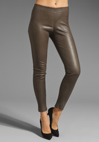 Vince Leather Zip Ankle Legging