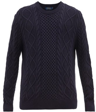 Polo Ralph Lauren Cable-knit Cotton Sweater - Mens - Navy