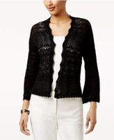 Style&Co. Style & Co Petite Cotton Pointelle Open-Front Cardigan, Only at Macy's