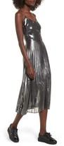 Love, Fire Women's Metallic Pleated Midi Dress