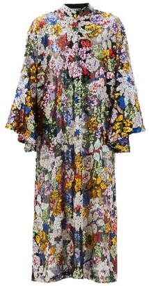 La Vie Style House - Sequin-embroidered Mesh Kaftan - Multi