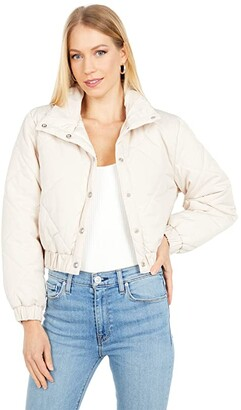Blank NYC Quilted Cropped Puffer Jacket (Alpine Snow) Women's Clothing