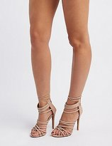 Charlotte Russe Strappy Tubular Dress Sandals