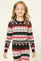 Forever 21 FOREVER 21+ Girls Fair Isle Sweater (Kids)