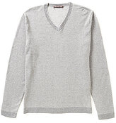 Michael Kors Cotton Dot V-Neck Sweater
