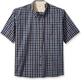 Wrangler Men's Big and Tall Authentics Short Sleeve Classic Plaid Shirt