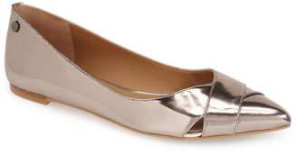 Calvin Klein 'Gailia' Leather Pointy Toe Flat