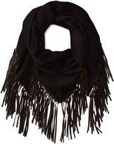 Mackage Women's Fida Wool Triangle Scarf with Leather Fringe