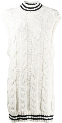 Ganni Oversized Cable-Knit Vest