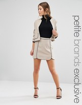 Alter Petite Scallop Hem Skirt With Piping Detail Co-Ord