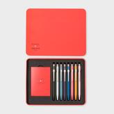 Paul Smith Caran d'Ache + 'Artist Stripe' Ballpoint Pen Collection In Presentation Case