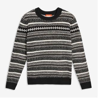 Joe Fresh Women's Jacquard Knit Sweater, Black (Size XL)