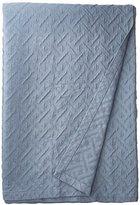 Natural Comfort Matelassé Blanket Coverlet, Queen, Maze/Water Blue