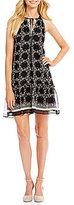 M.S.S.P. Printed Textured Georgette Shift Dress