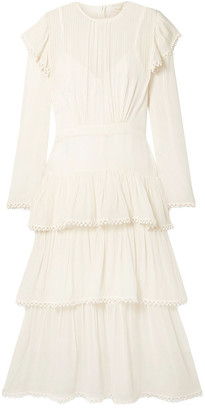 Zimmermann Tiered Silk-georgette Midi Dress