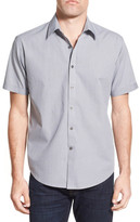 James Campbell &Wright& Regular Fit Coin Print Short Sleeve Sport Shirt