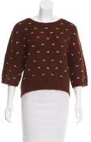 Dries Van Noten Bead-Embellished Alpaca Sweater
