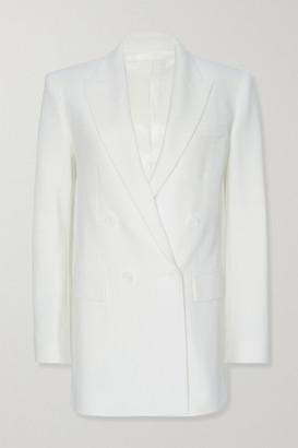 Frankie Shop Elvira Woven Blazer - White