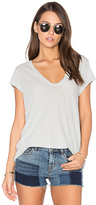 James Perse Deep V Tee in Gray