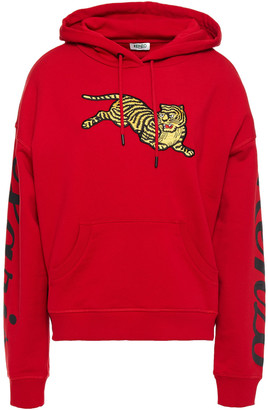 Kenzo Appliqued French Cotton-terry Hoodie