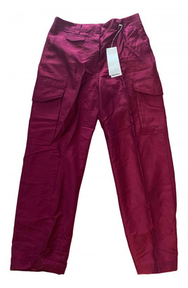 Arket Burgundy Polyester Trousers