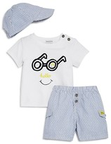 Absorba Infant Boys' Hello Tee, Shorts & Hat Set - Sizes 0-9 Months