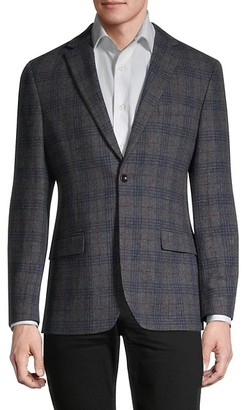 Tommy Hilfiger Standard-Fit Brent Plaid Wool-Blend Sportcoat