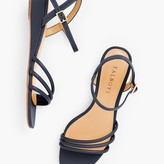 Talbots Cora Multi Strap Mini Wedge Sandals - Nappa Leather