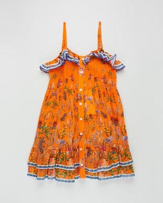 Camilla Button-Through Frill Dress - Teens