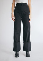 Lemaire Women's Denim Pant in Black Skirt, Size 34 | 100% Cotton
