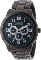 August Steiner Men's AS8060BK Quartz Multi-Function Bracelet Watch