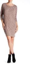Bobeau Melange Knit Cocoon Dress