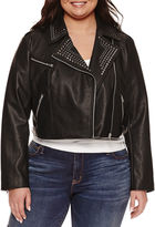 Boutique + Ashley Nell Tipton for + Motorcycle Jacket-Plus
