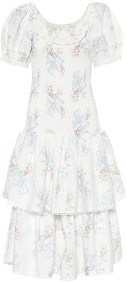 LoveShackFancy Keaton floral cotton dress