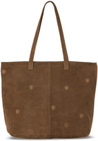 Toms Toffee Suede Embroidered Cosmopolitan Tote Bag
