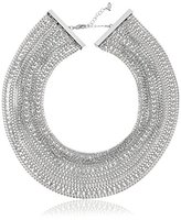 """ABS by Allen Schwartz Out Last Night"""" Multi-Row Torsade Silver/Crystal Strand Necklace, 16"""""""