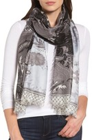 Nordstrom Women's Bohemian Paisley Cashmere & Silk Scarf