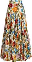 Dolce & Gabbana Floral-print gathered skirt