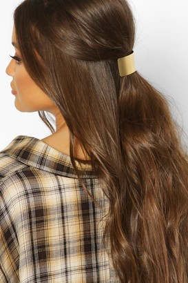 boohoo Brushed Gold & Chain Hair Clip Pack