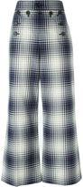 Marc Jacobs plaid print trousers - women - Cotton/Silk - 8