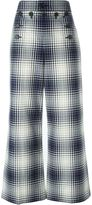 Marc Jacobs plaid print trousers - women - Silk/Cotton - 8