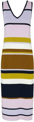 Ted Baker Izlie Knitted Striped Midi Dress