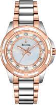 Bulova Women's Diamond Accent Two-Tone Stainless Steel Bracelet Watch 32mm 98P134
