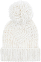 Accessorize Lattice Cable Pom Pom Beanie