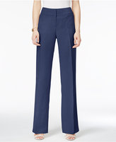 Alfani Linen Wide-Leg Trousers, Created for Macy's