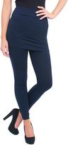 Magid Navy Fleece-Lined Skirted Leggings - Plus Too