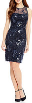 Antonio Melani Sophia Sequin Mesh Sheath Dress