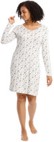 S.O.H.O New York Core Lace Knit Mid Long Sleeve Nightie White