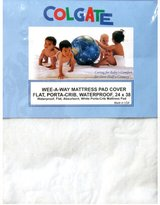 Colgate Mattress Wee-A-Way Portable Crib/Mini Crib Flat Waterproof Mattress Cover